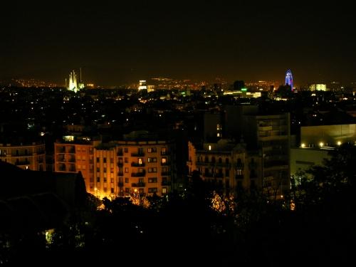 Panorama fra Montjuic, Sagrada Familia og Torre i baggrunden